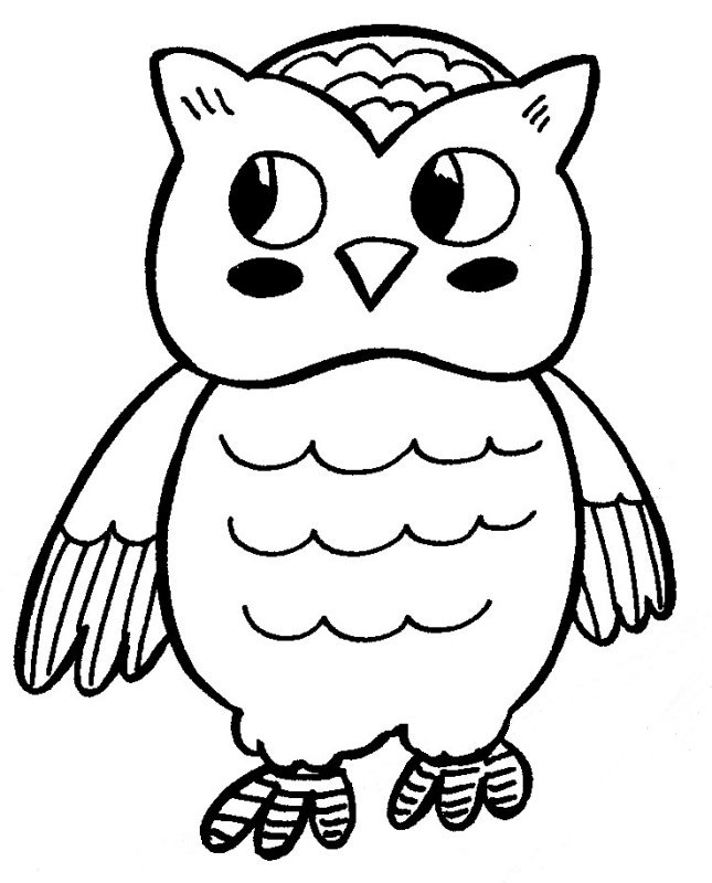 cartoon owls coloring pages - photo#36