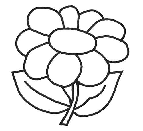 Цветок раскраска для малышей - 10
