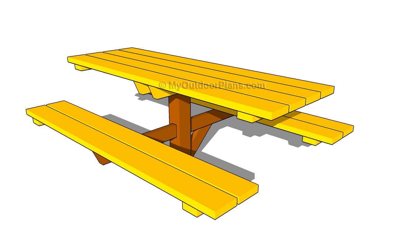 Wooden Picnic Table Plans | Free Outdoor Plans - DIY Shed, Wooden ...