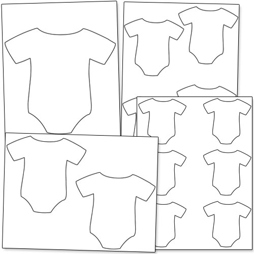 Baby Onesie Outline Cliparts Co