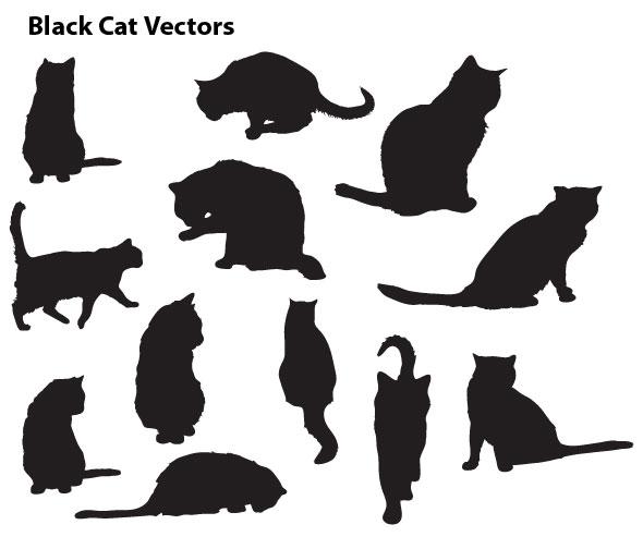 black cat vector cristiano - photo #29