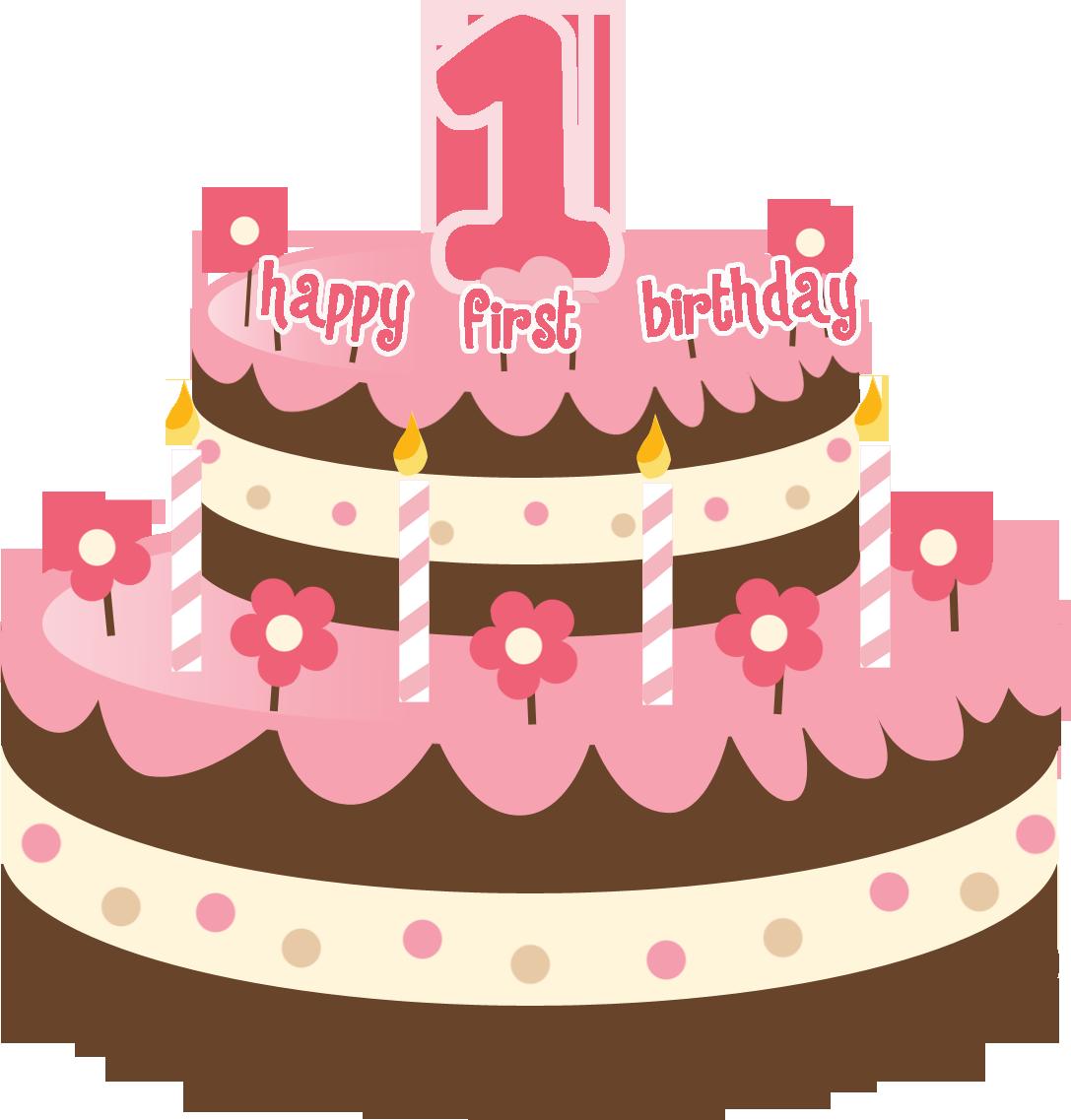 Clip Art First Birthday Cake
