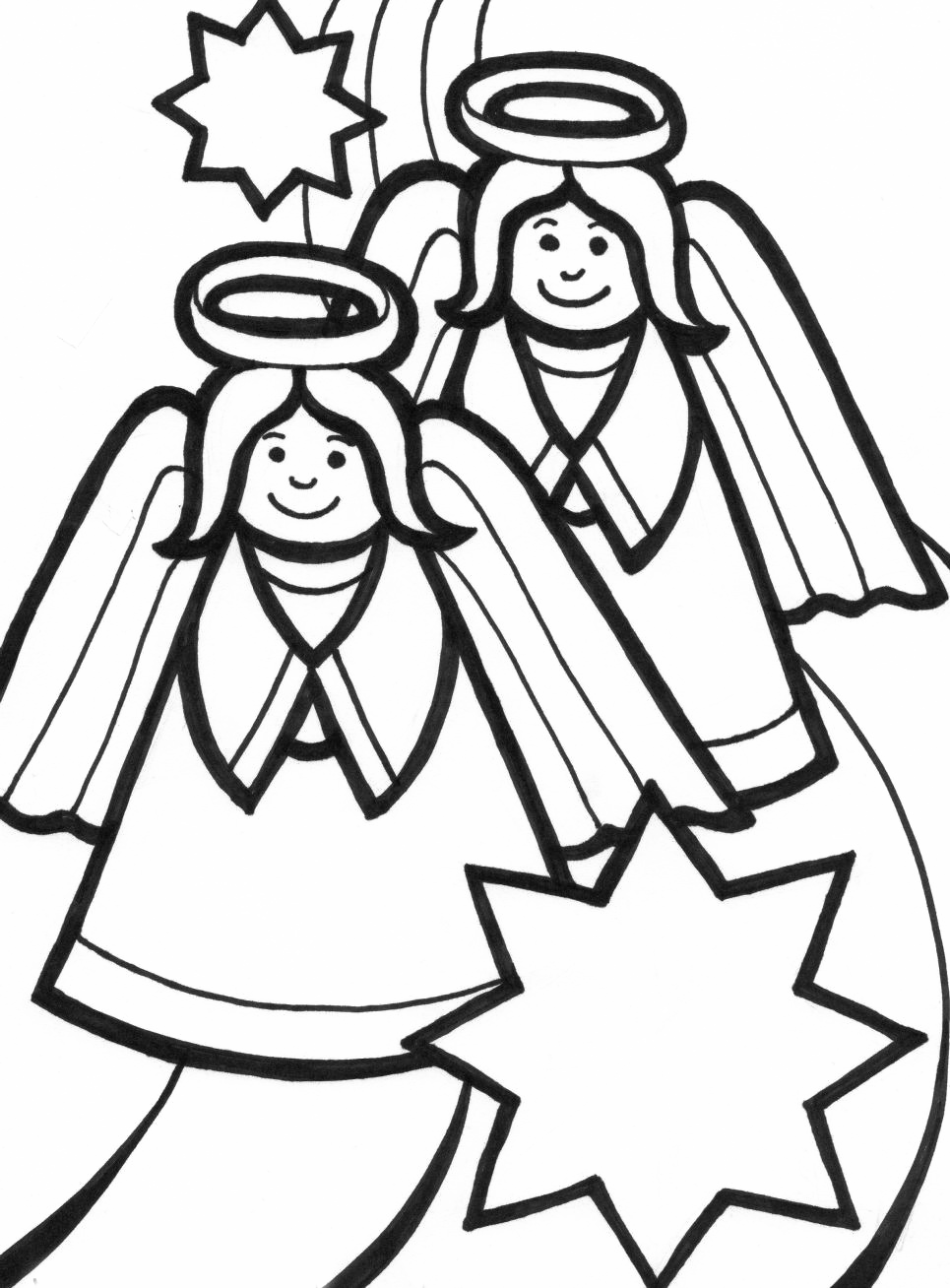 printable coloring pages cute angels - photo#34