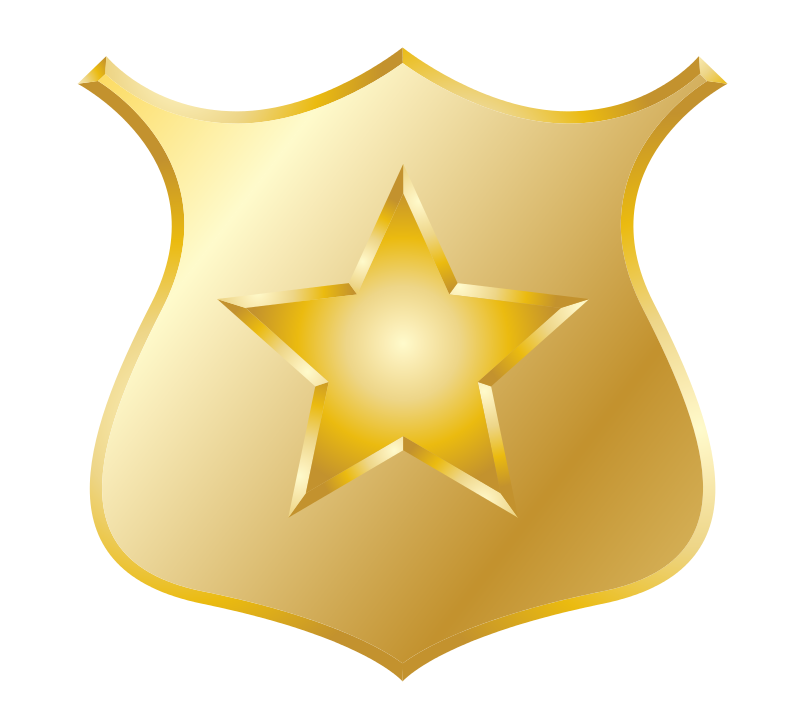 Gold Police Badge - Free Stars Clip Art - BCDownload.