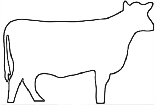 Outline Of A Cow - Cliparts.co