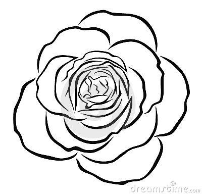 Rose Outline Clip Art - Cliparts.co