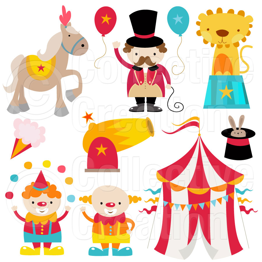 Popular Items For Circus Clipart On Etsy - Cliparts.co