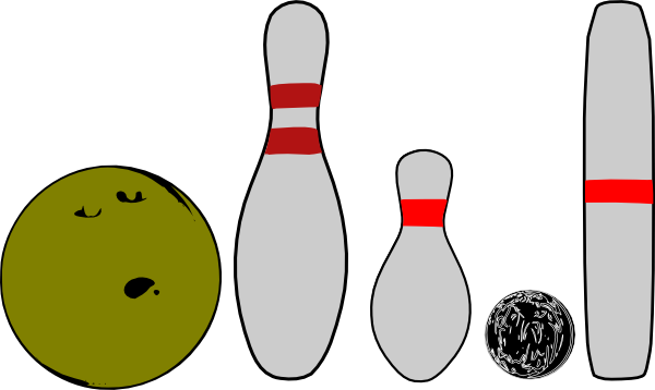 Bowling Pins And Balls clip art - vector clip art online, royalty ...