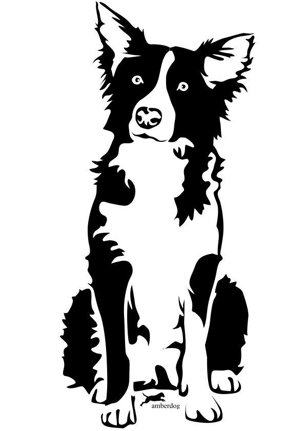Red Border Collie Clipart