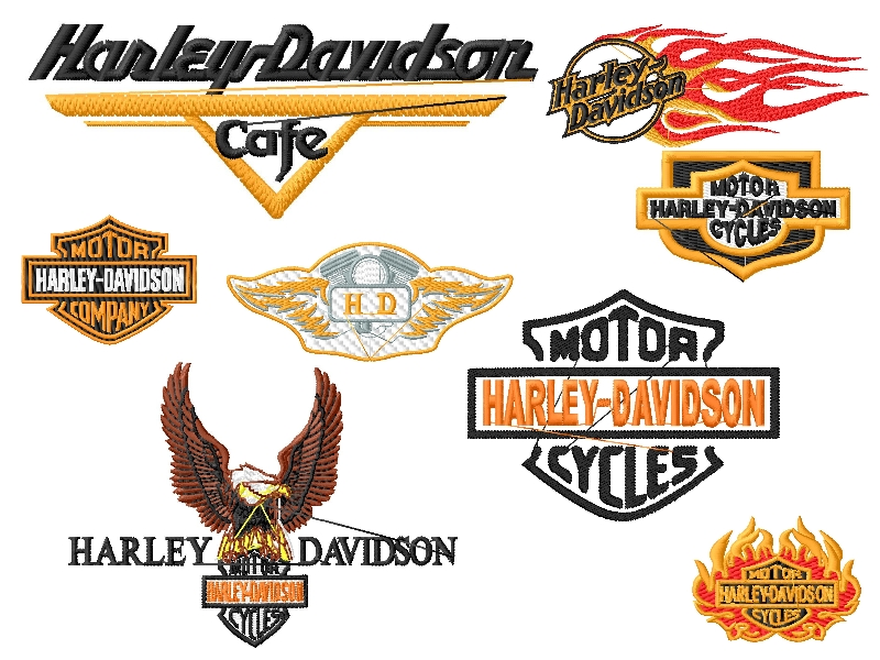 Harley Davidson Logo Embroidery Designs