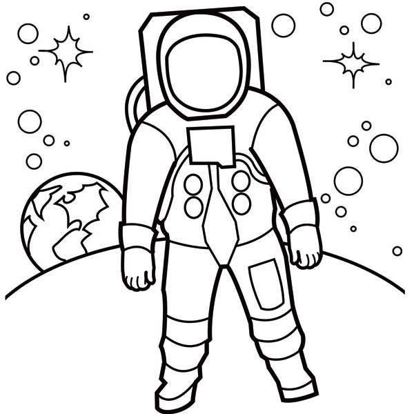 astronaut clip art black and white - photo #19