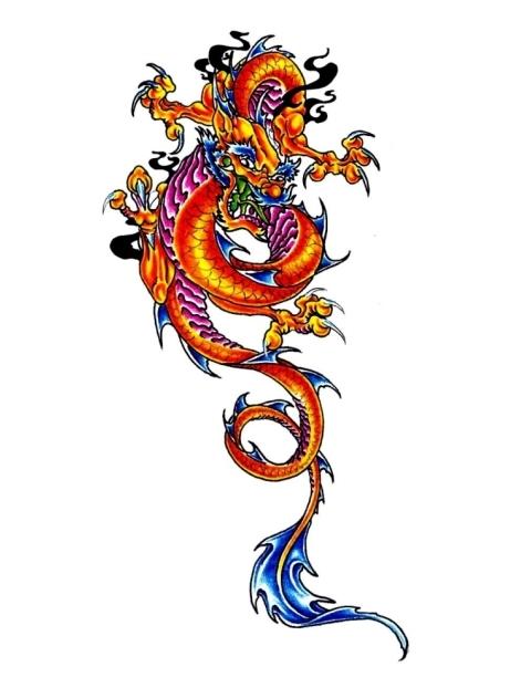 Japanese Fire Dragon Tattoo | Tony's Tattoo Gallery