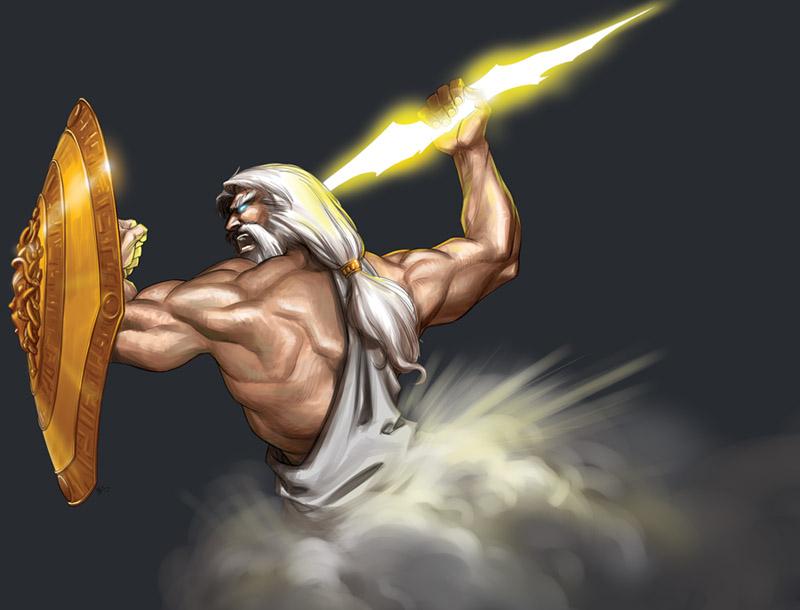 zeus the god of lightning