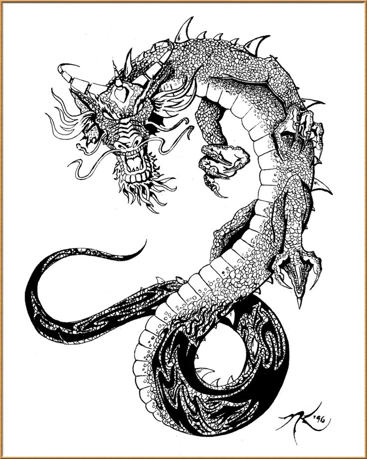 oriental tattoo designs free | Free Download Oriental Dragon ...