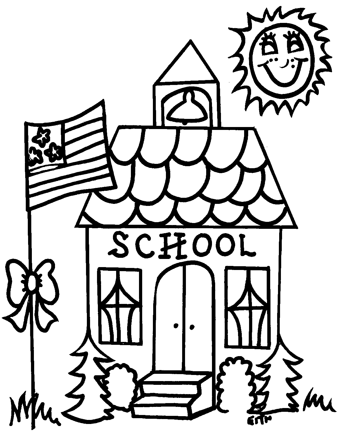 school open house coloring pages - photo#12