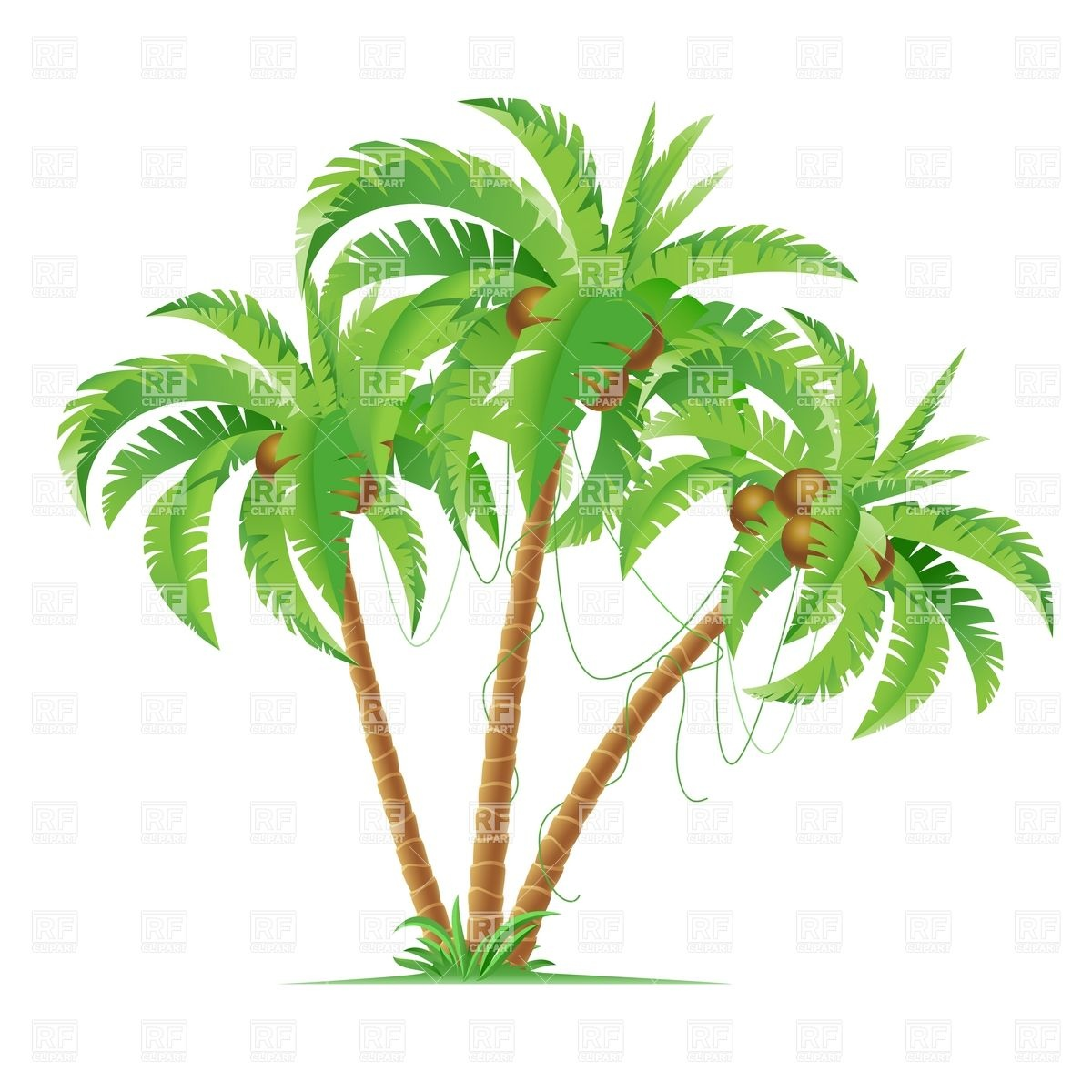 Cartoon Palm Tree Clip Art Clipart - Free Clipart