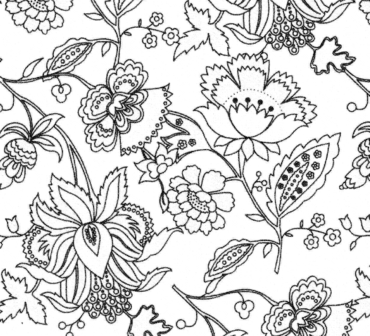 Line Art Aplic Flower Design : Floral drawings cliparts