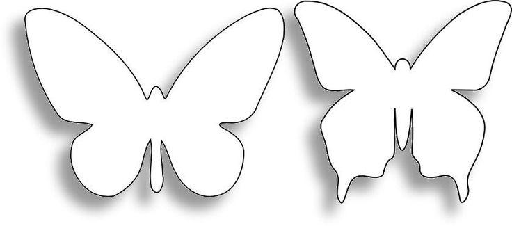 Трафарет бабочки на стену