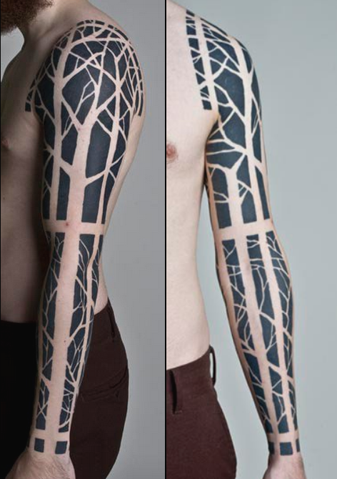 Black Tree Sleeve | Best tattoo design ideas