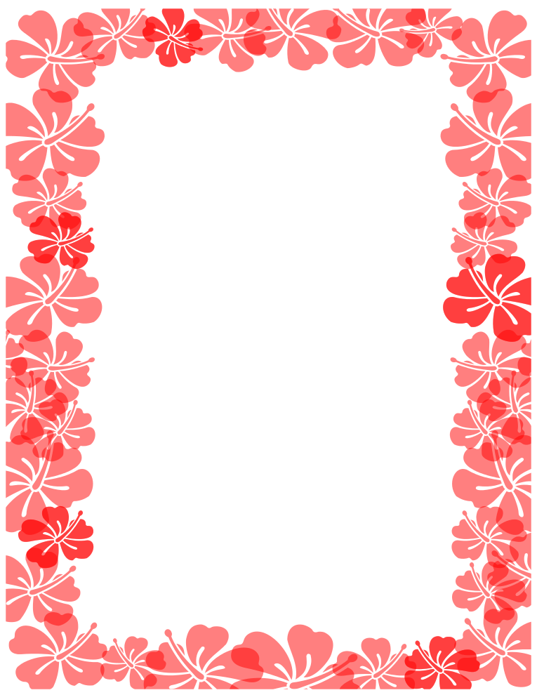 Hawaiian Flower Outline - Cliparts.co
