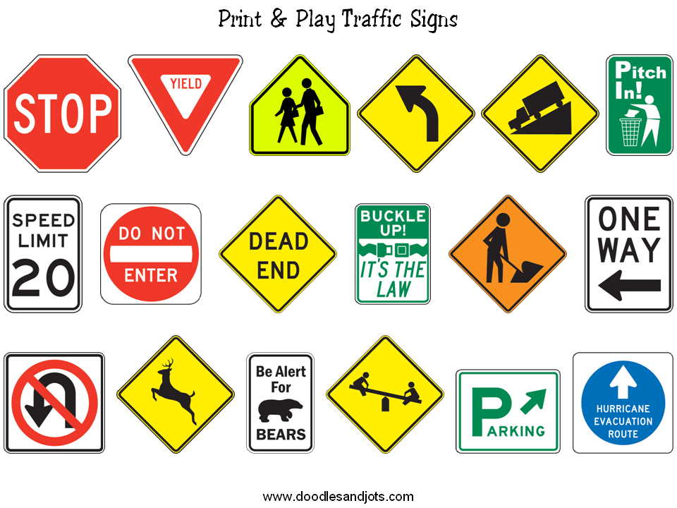 List of all traffic signs and meanings