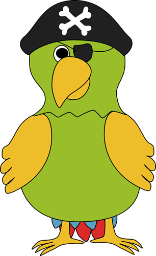 Pirate Parrot Clip Art - Pirate Parrot Image