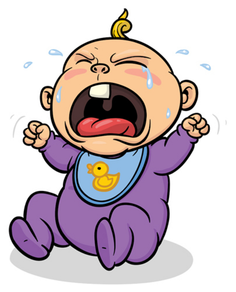 Clipart Of Baby Crying