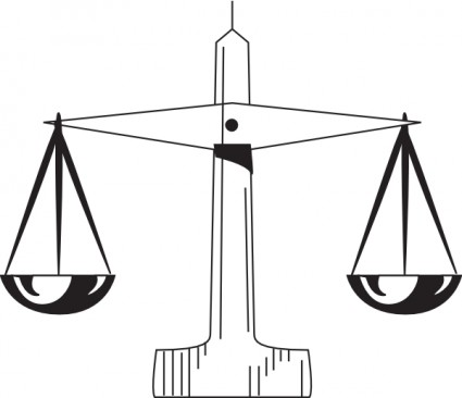 Scale Of Justice clip art Vector clip art - Free vector for free ...
