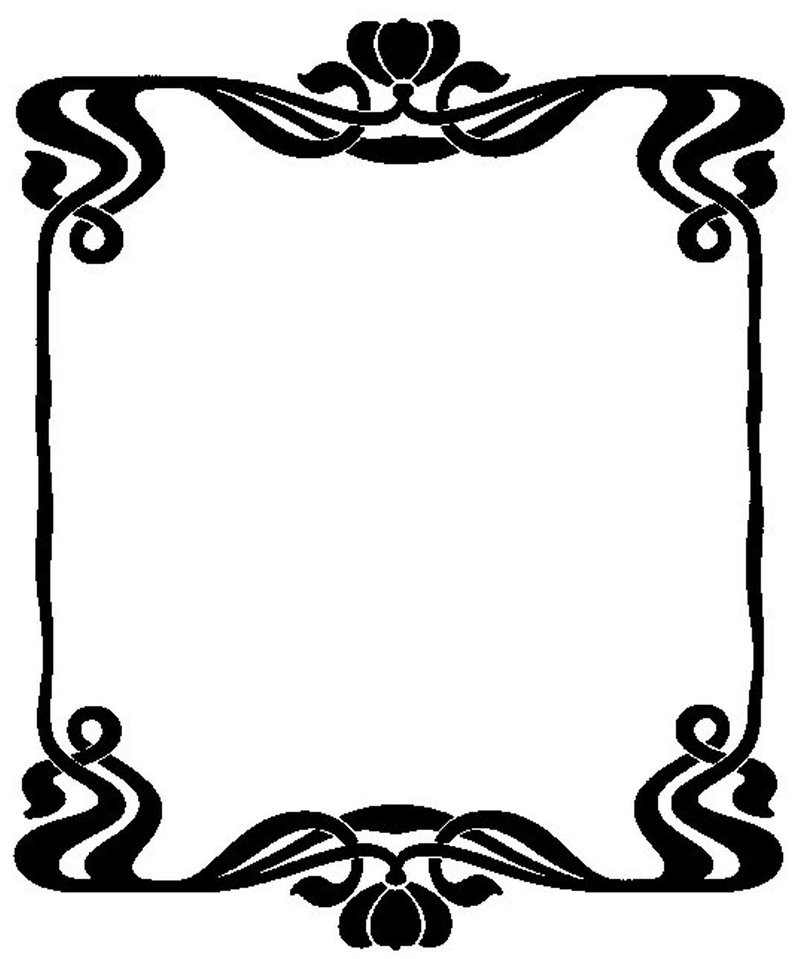 how to draw art nouveau borders