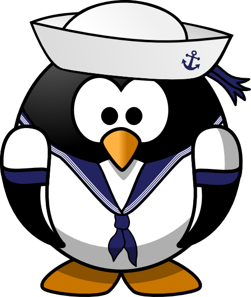 Sailor Penguin clip art - vector clip art online, royalty free ...