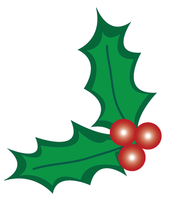 christmas holly pictures clip art