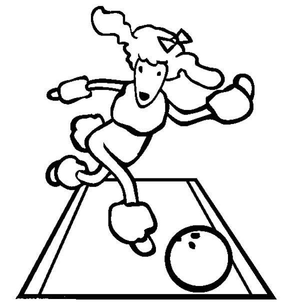 Cute poodle coloring pages ~ This Cute Poodle Play Bowling Coloring Page - Free ...