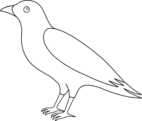 Line Drawing Of Animals And Birds : Bird outline clip art cliparts