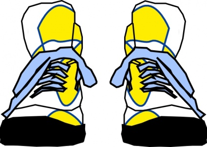 clip art by VellasCollageSheets · yellow-shoe-md.png