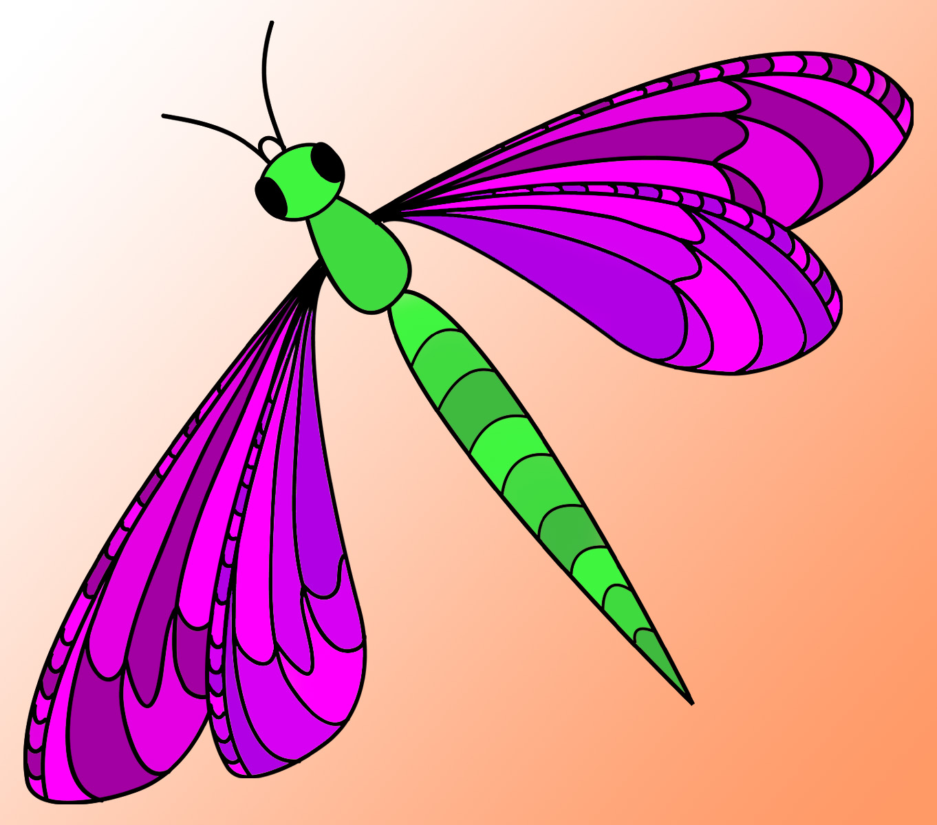 Clip art dragonflies Drawing images free download