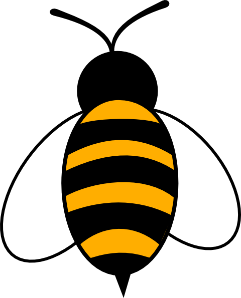 Bee clip art - vector clip art online, royalty free & public domain
