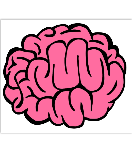 cartoon picture of a brain clipartsco