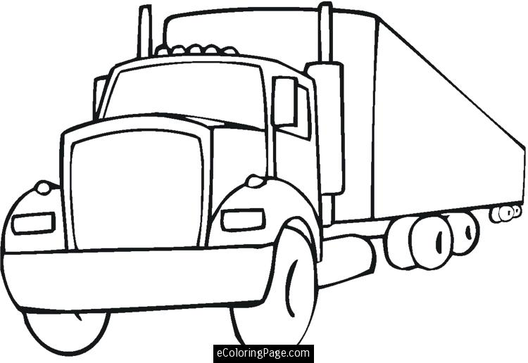 semi truck outline