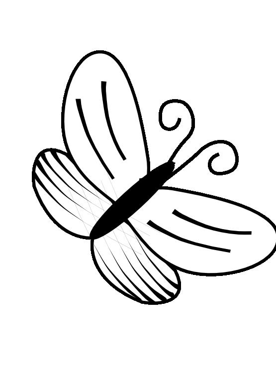 Butterfly Clip Art Bla...