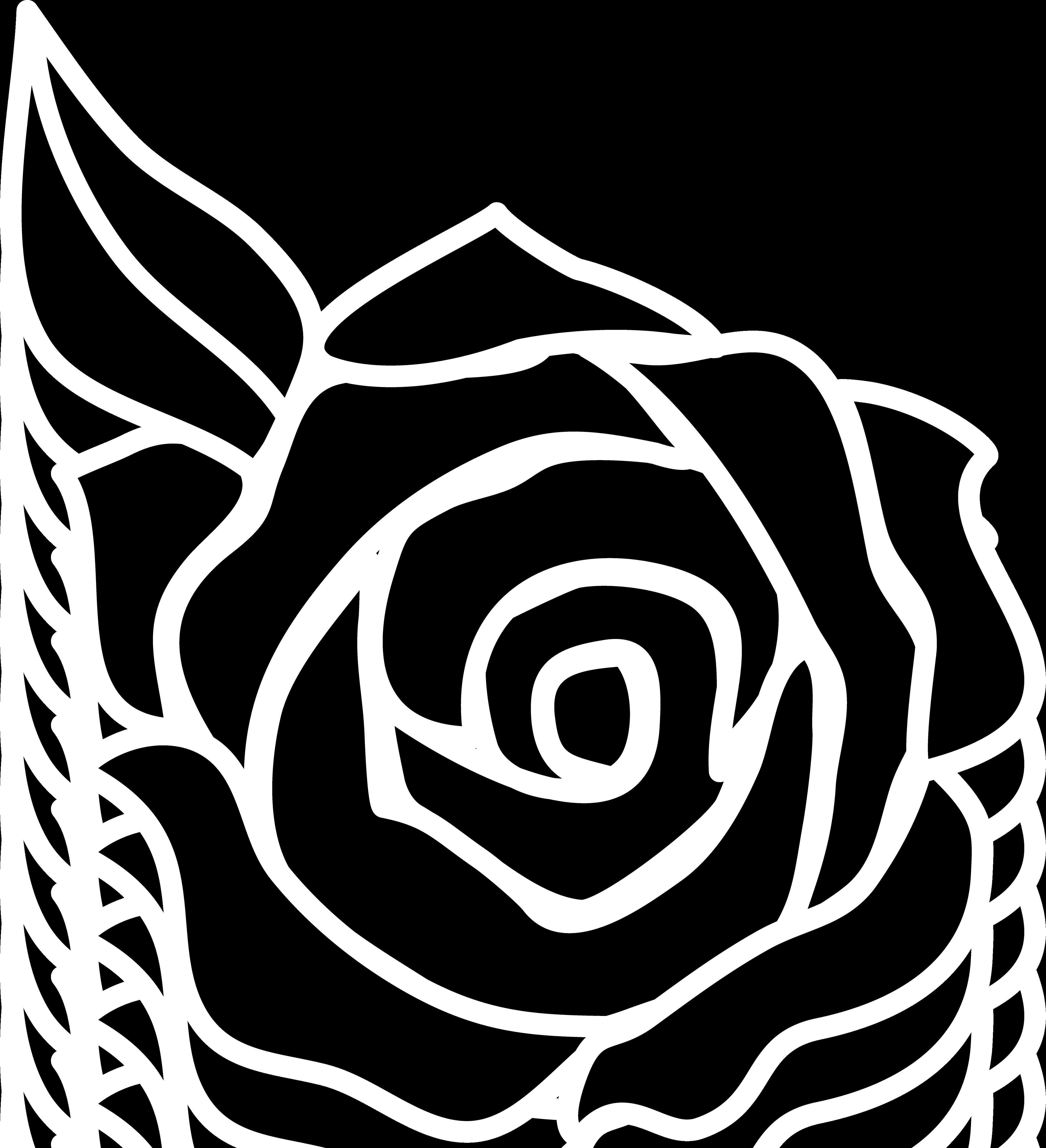 Rose Clip Art Outline