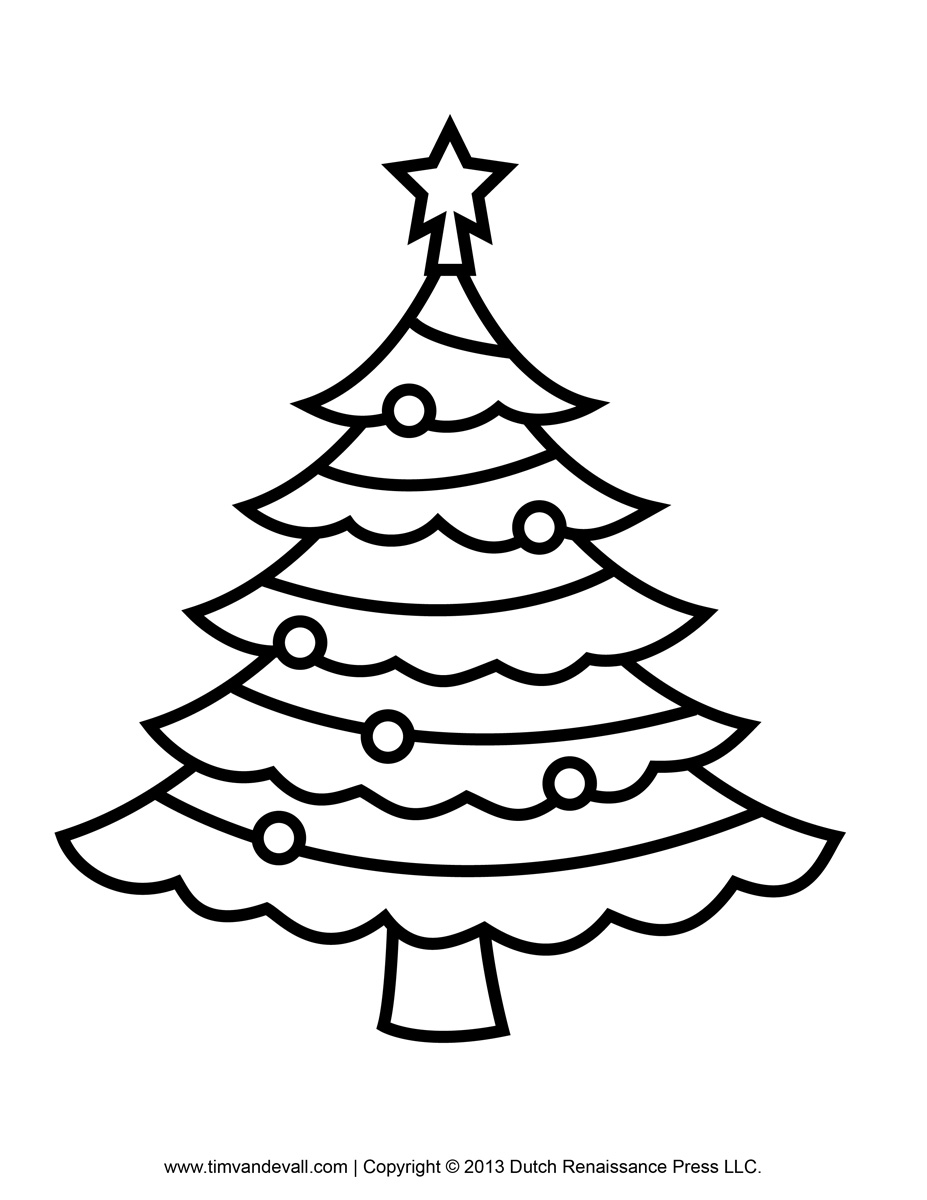 Line Drawing Xmas Tree : Christmas tree line art cliparts