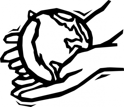 Earth In Gentle Hands clip art - Download free Other vectors