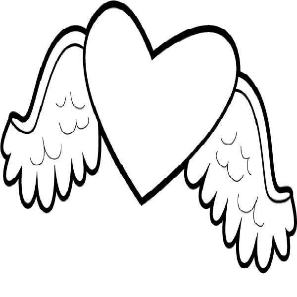 free angel wings coloring pages - photo#22