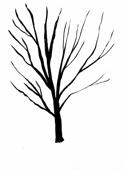 Black And White Tree Drawing - Cliparts.co