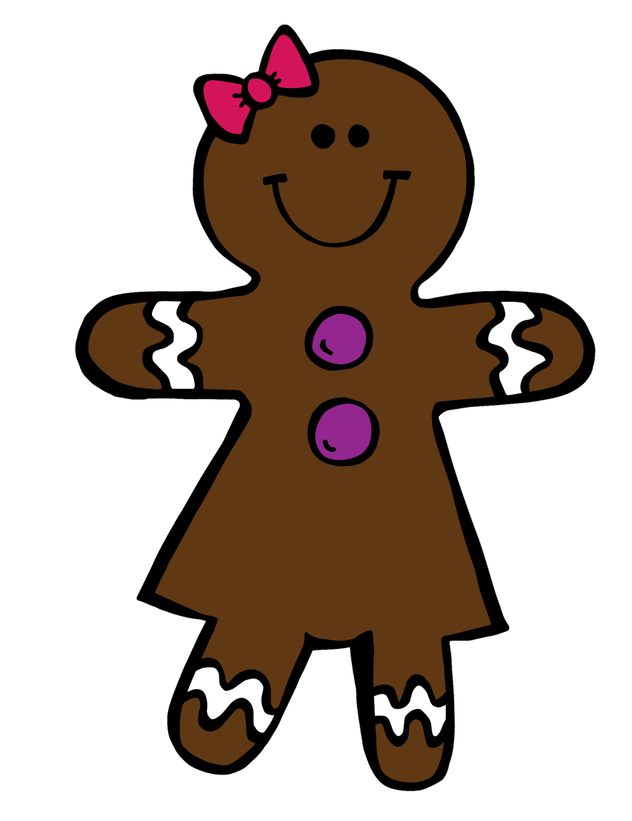 Gingerbread Girl Clip Art Images & Pictures - Becuo