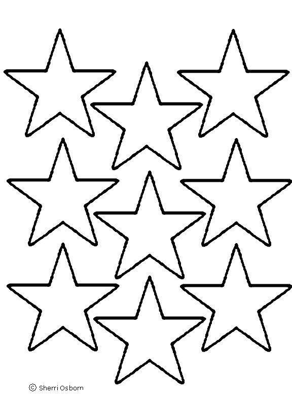 large printable star coloring pages - photo #45