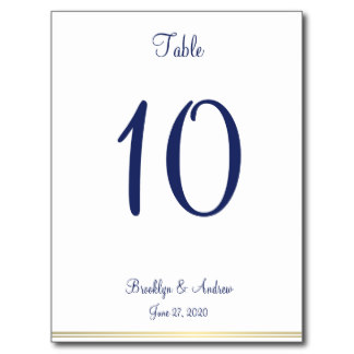 Nautical wedding table numbers postcards postcard for Table number design template