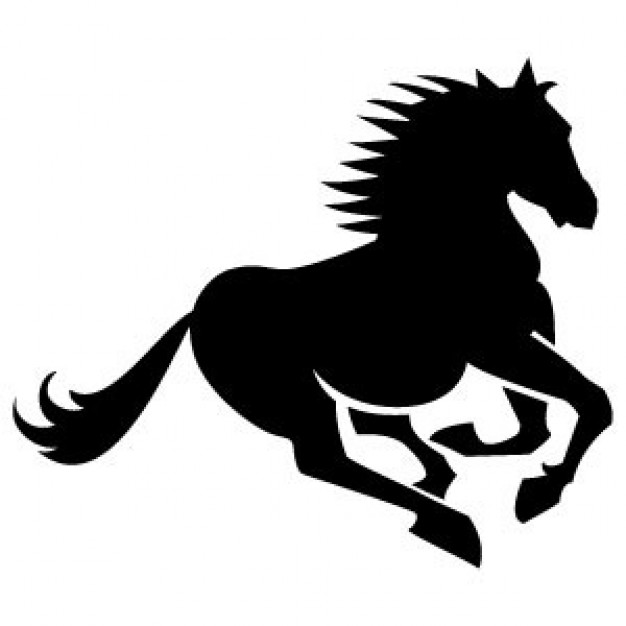 Running Horses Silhouette - Cliparts.co