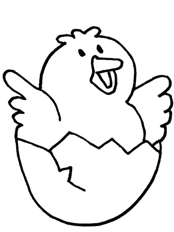 Chicken Line Art on baby bunny coloring pages printable