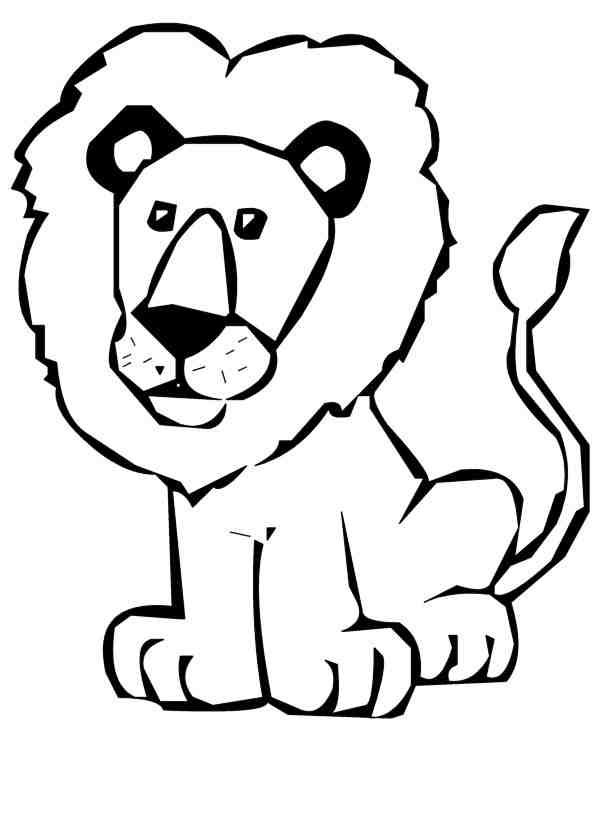Cute Lion Clipart Black And White | Clipart Panda - Free Clipart ...